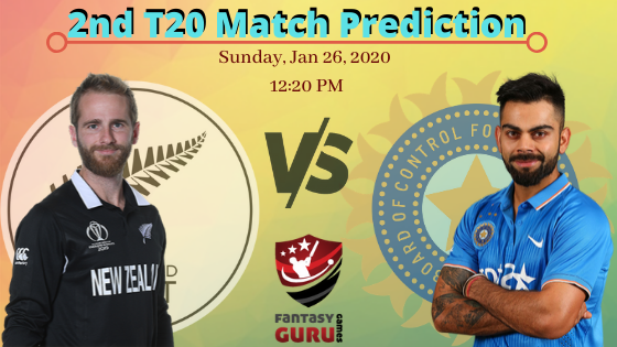 NZ v IND 2nd T20 Match Prediction