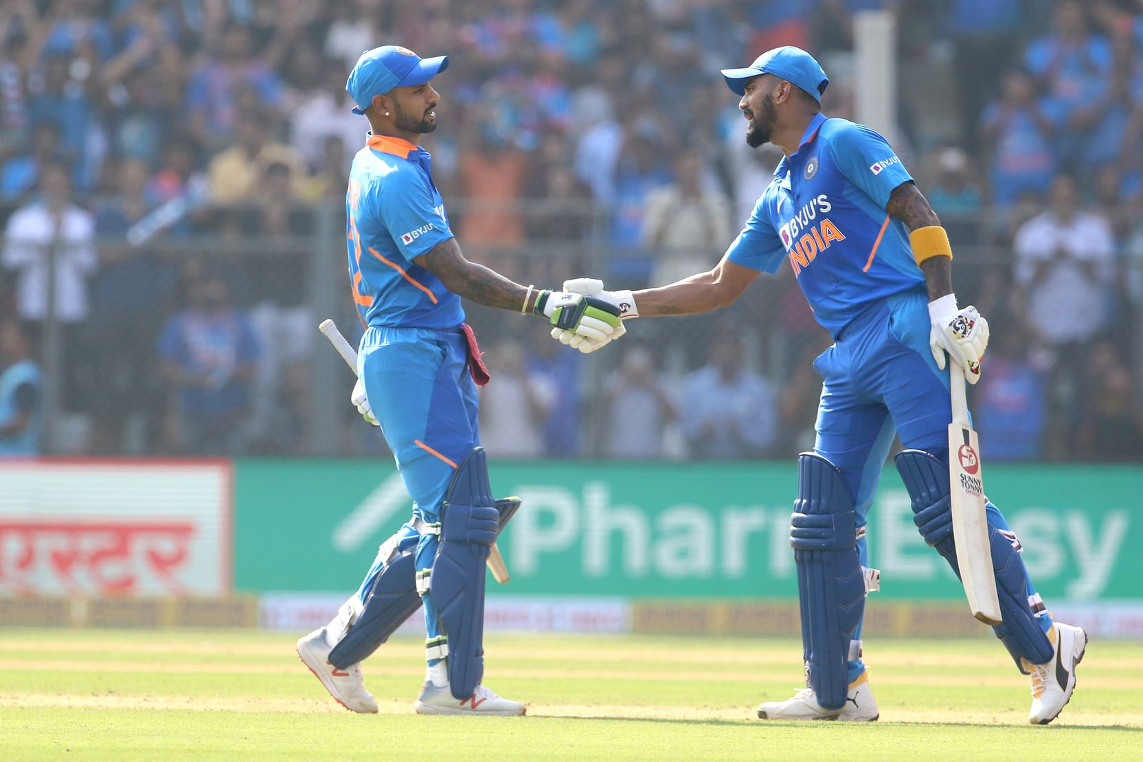 Dhavan and KL Rahul