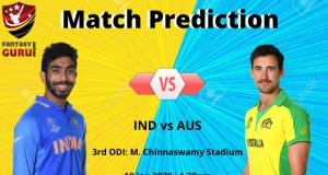 INDvsAUS Match Prediction