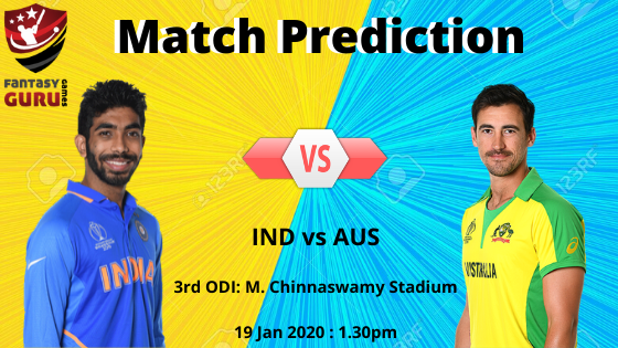 INDvsAUS Match Prediction