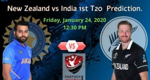 New Zealand vs India 1st T20 Match Prediction