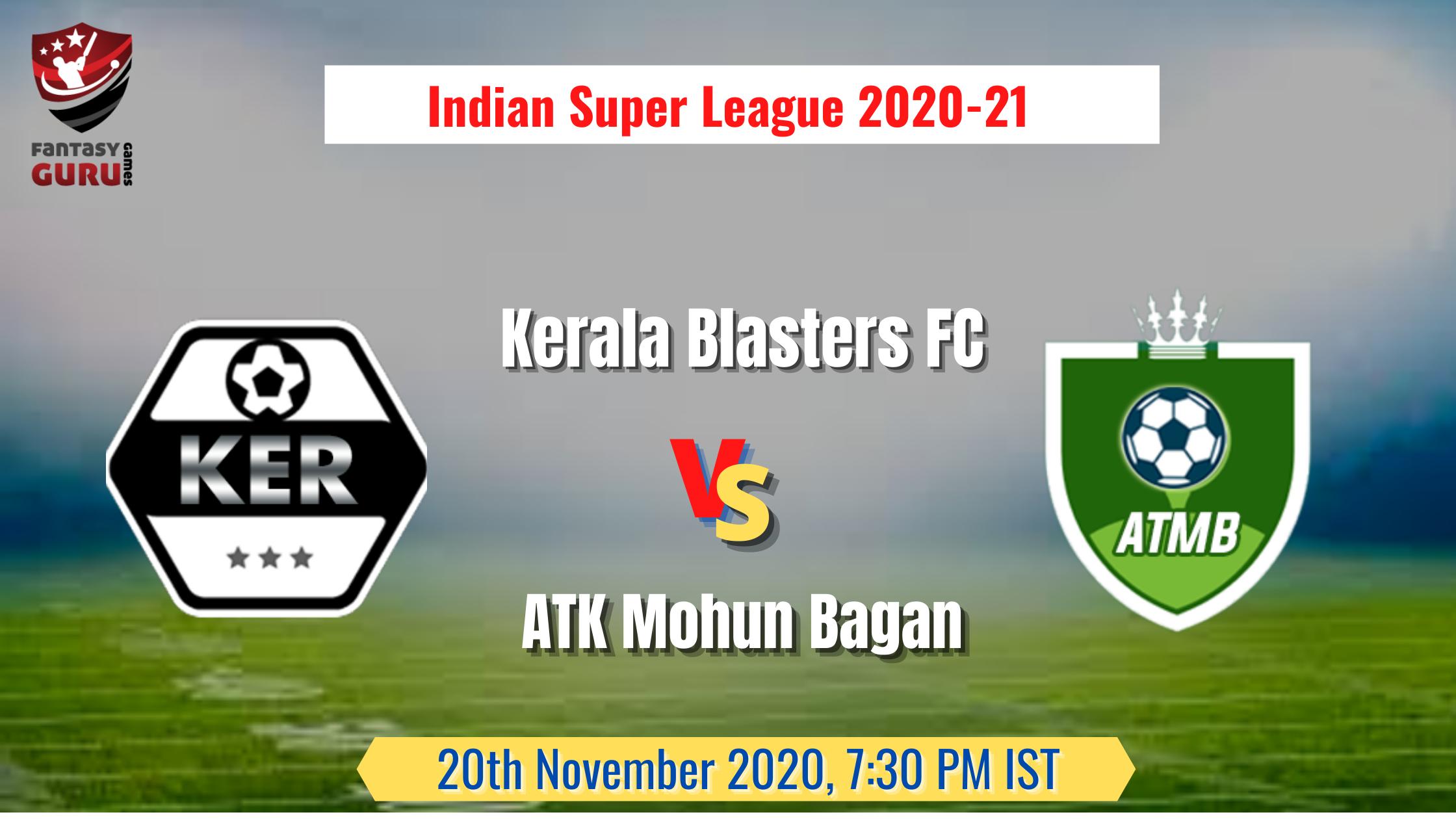 KBFC vs ATMB Match Prediction | Indian Super League 2020 ...