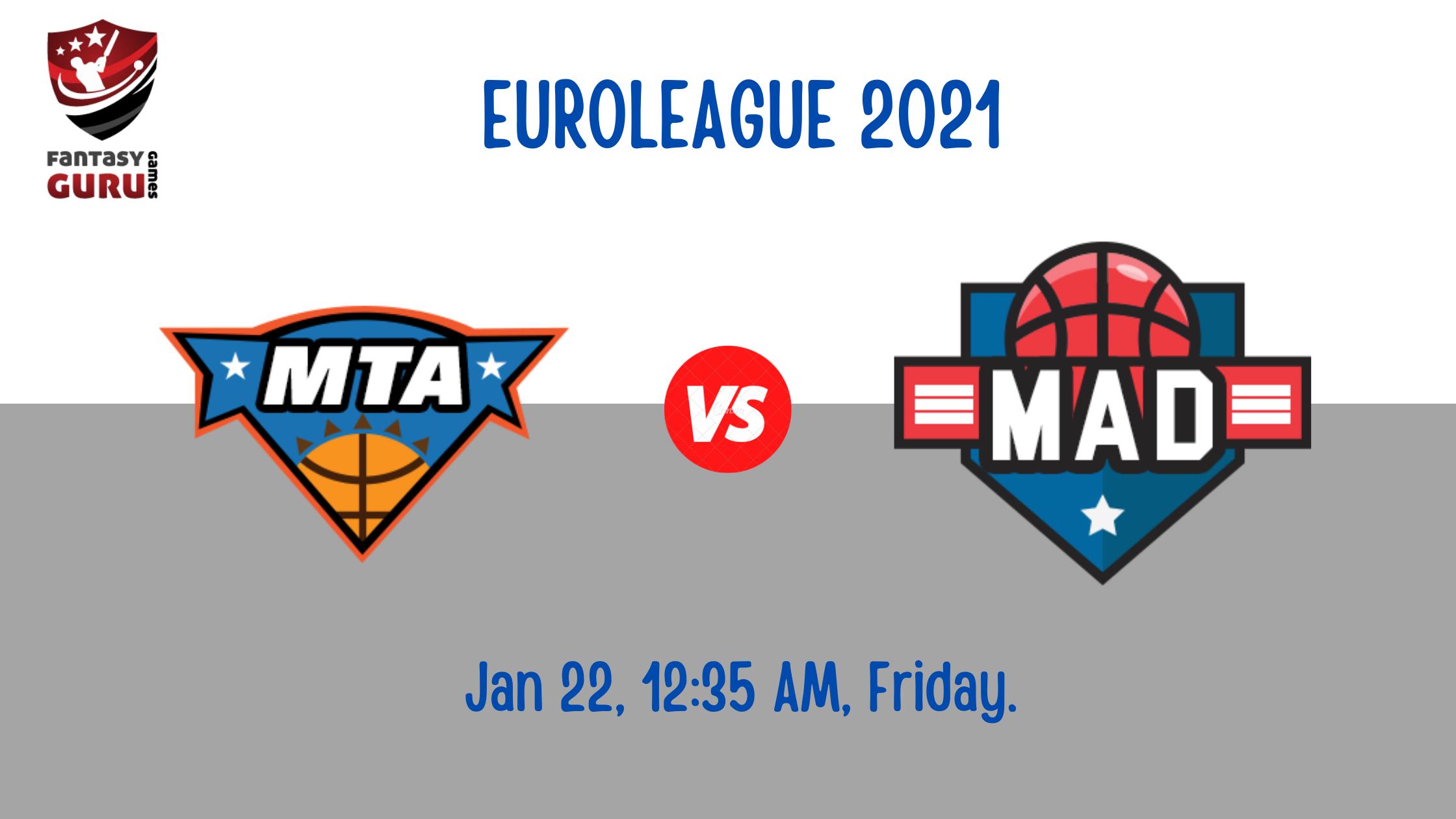 Basketball Euroleague 2021